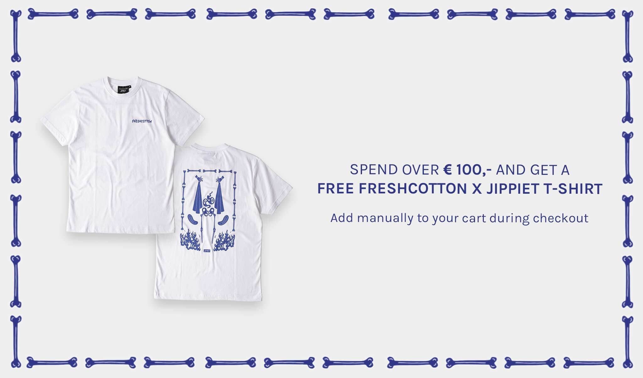 Free Freshcotton x Jippiet T-shirt