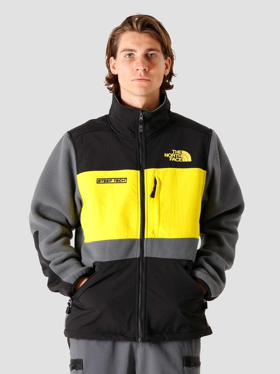 The North Face Steep Tech Full Zip Fleece Vanadis Grey Black Lightning Yellow NF0A4R6ASH3
