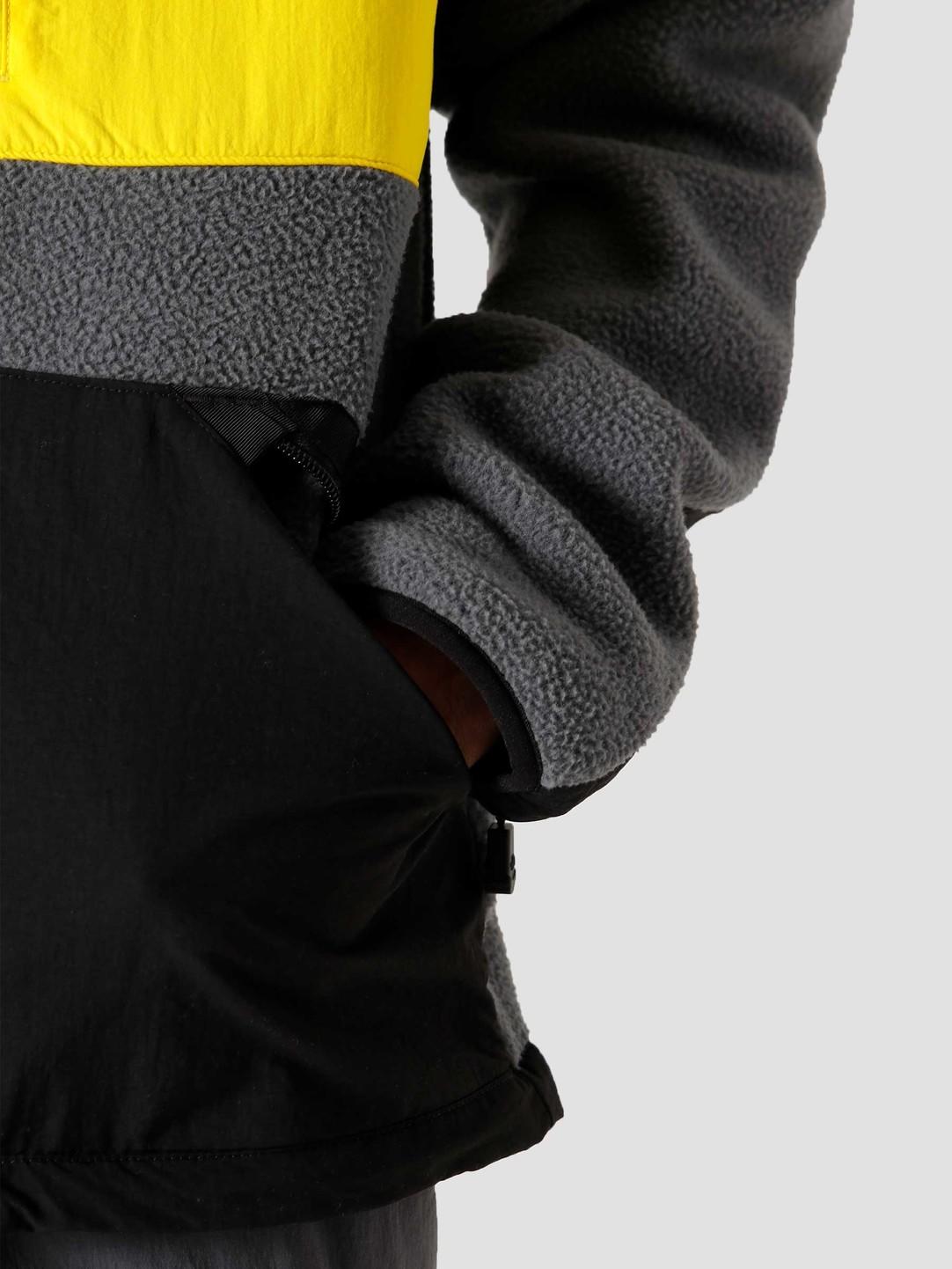 The North Face The North Face Steep Tech Full Zip Fleece Vanadis Grey Black Lightning Yellow NF0A4R6ASH3