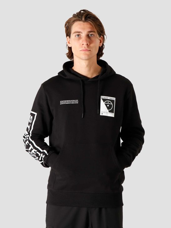 The North Face Steep Tech Logo Hoodie Black NF0A4SYIJK3