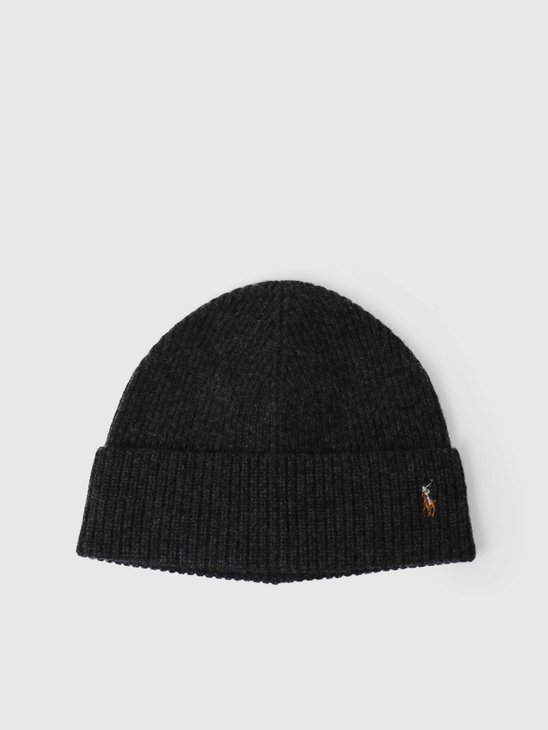 Polo Ralph Lauren Fold Over Beanie Charcoal 449775524007