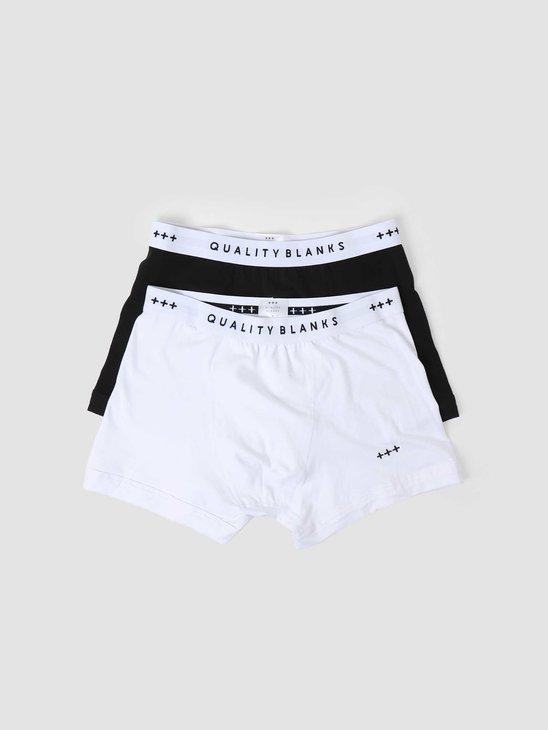 Quality Blanks QB04 2-pack Trunks Black White