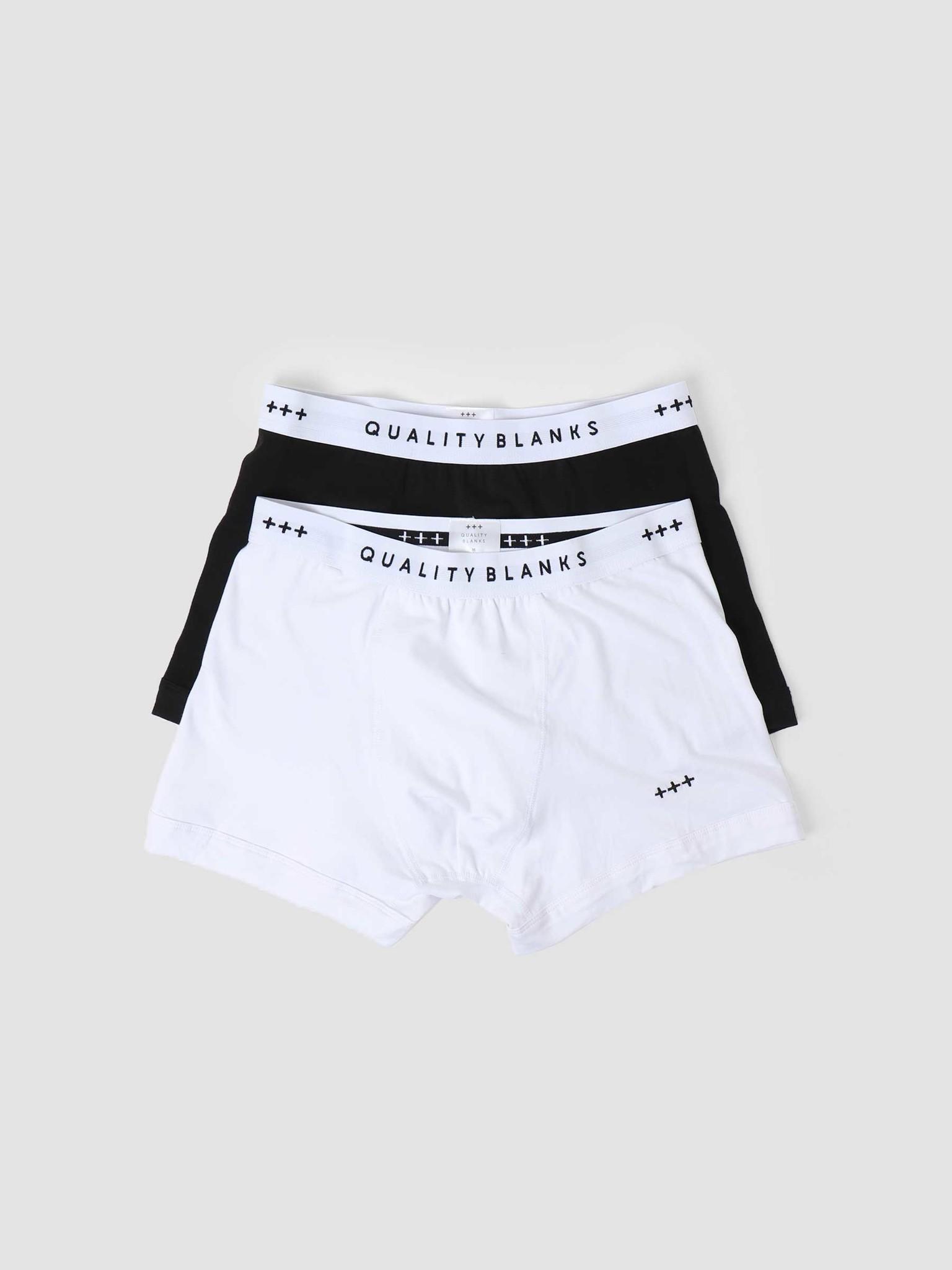 Quality Blanks Quality Blanks QB04 2-pack Trunks Black White