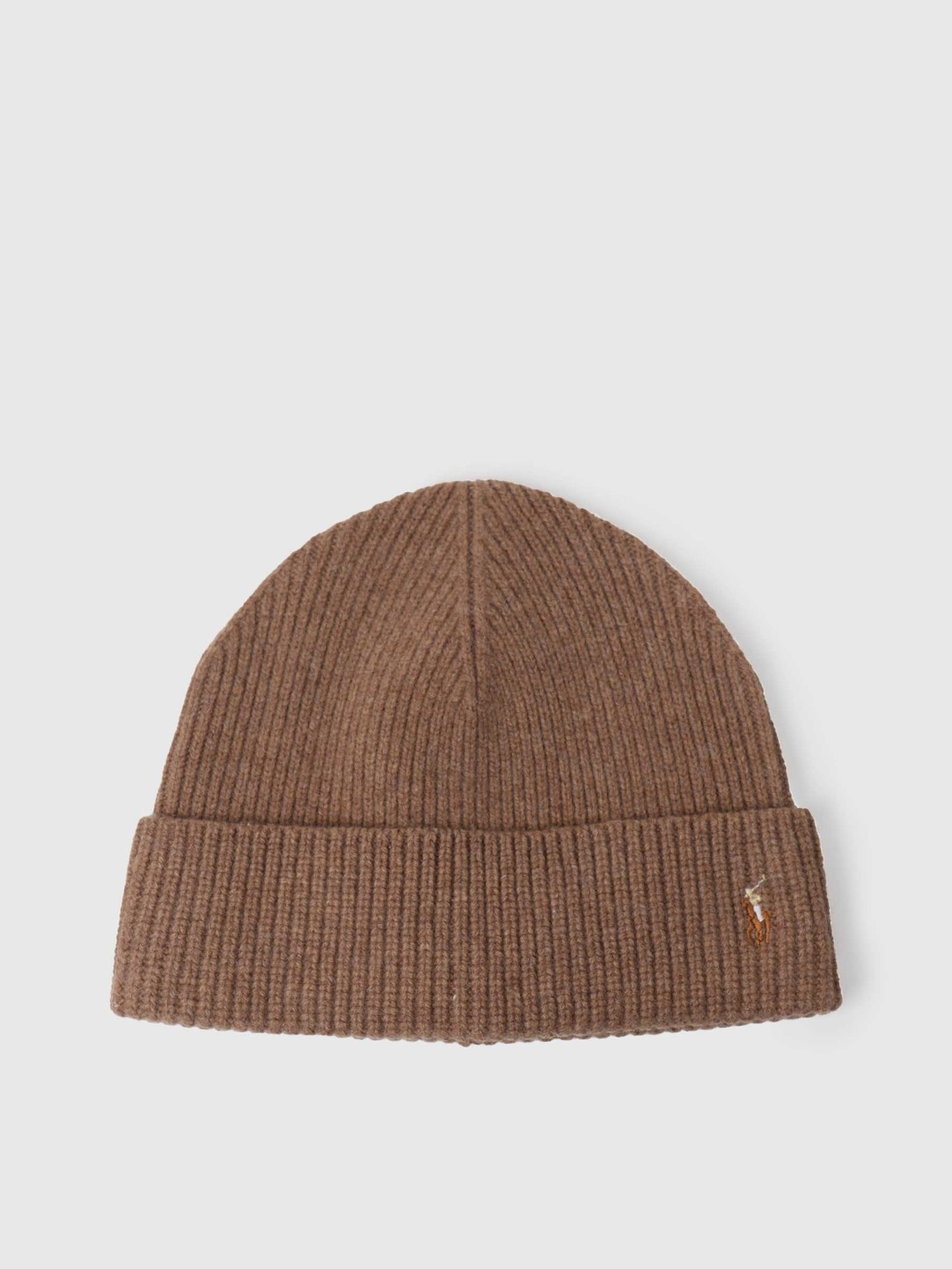 Polo Ralph Lauren Polo Ralph Lauren Fold Over Beanie Honey Brown Heather 449775524003