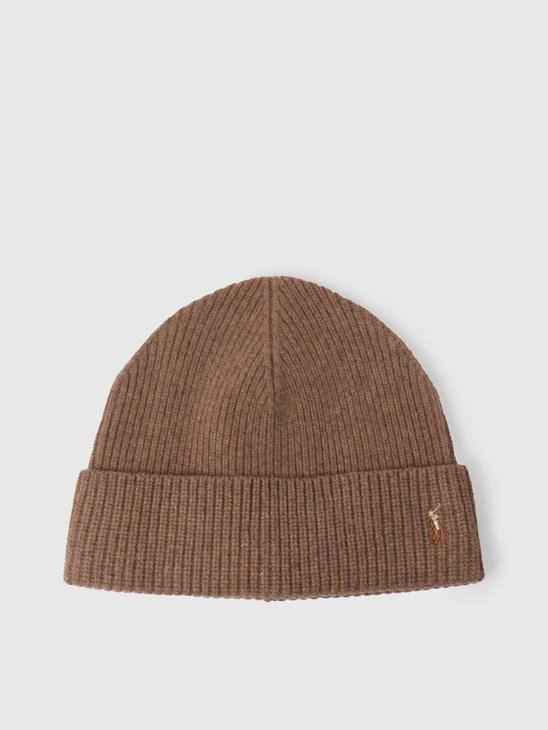 Polo Ralph Lauren Fold Over Beanie Honey Brown Heather 449775524003