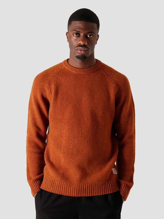 Carhartt WIP Anglistic Sweater Brandy Heather I010977-0I100