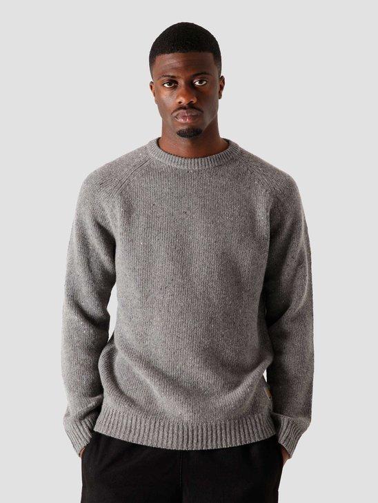 Carhartt WIP Anglistic Sweater Dark Grey Heather I010977-ZM00