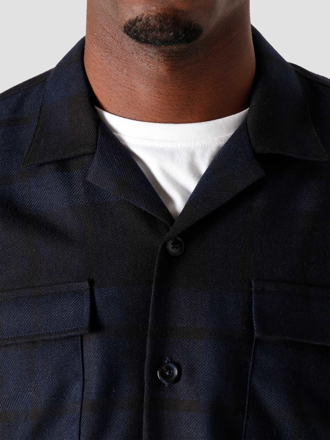 Libertine Libertine Libertine Libertine Cave Pocket Shirt Dark Navy Check 1964