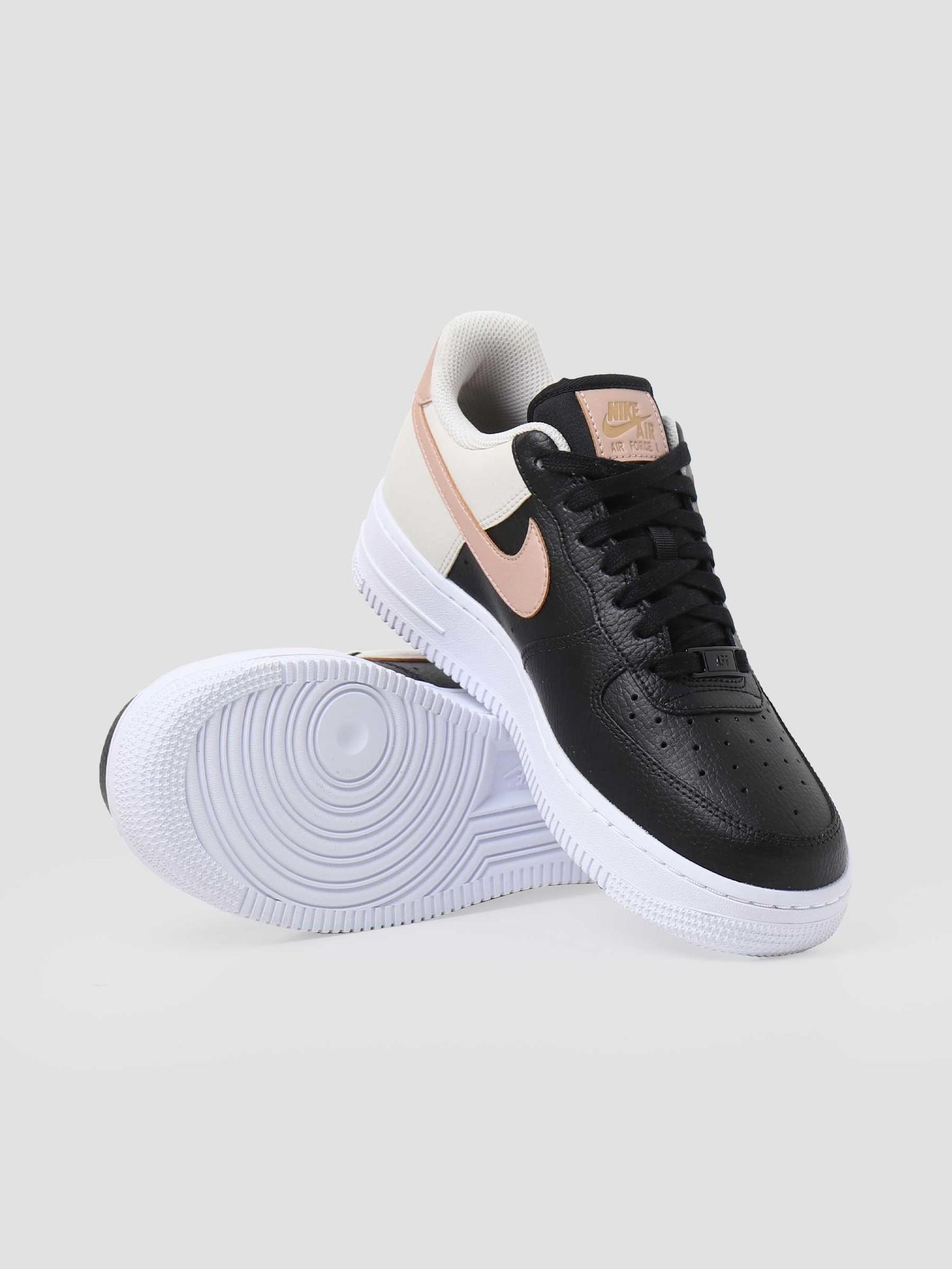 Nike Nike W Air Force 1 07 Black Mtlc Red Bronze Lt Orewood Brn CU5311-001