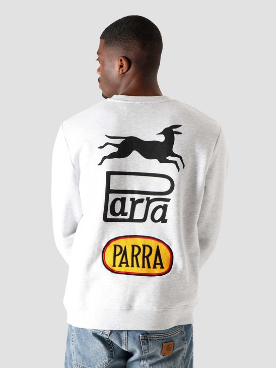 by Parra Racing Fox Crew Neck Sweatshirt Ash 44450
