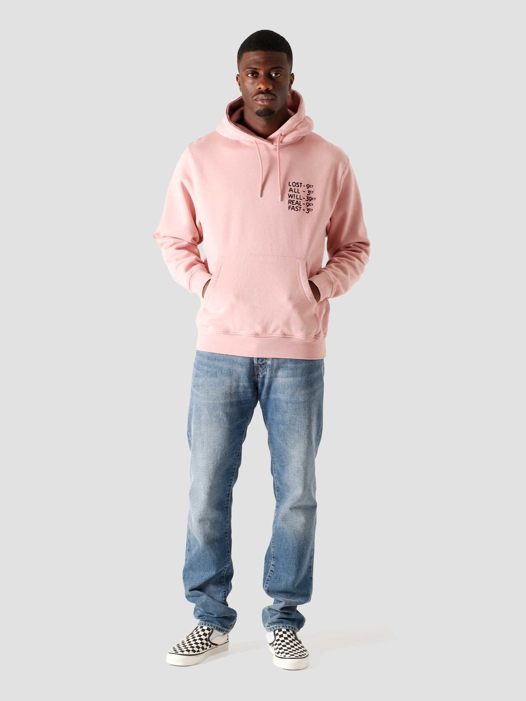 by Parra by Parra Lost All Will Fast Hooded Sweatshirt Pink 44460