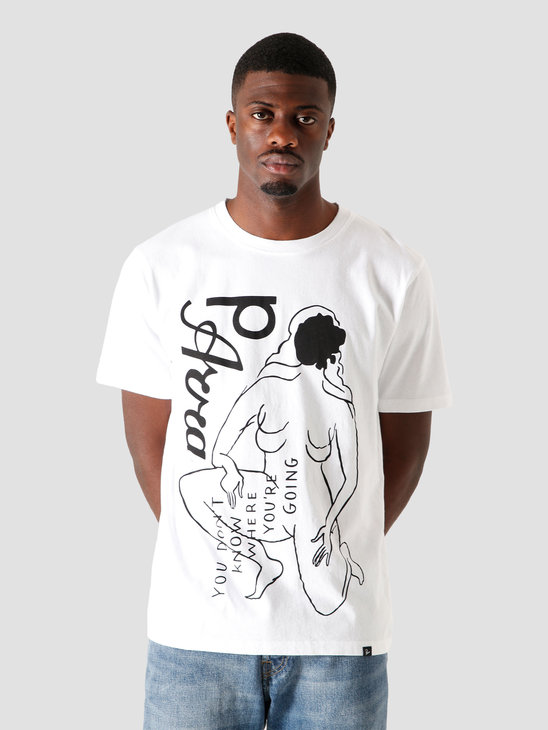 by Parra Not Going T-Shirt White 44400