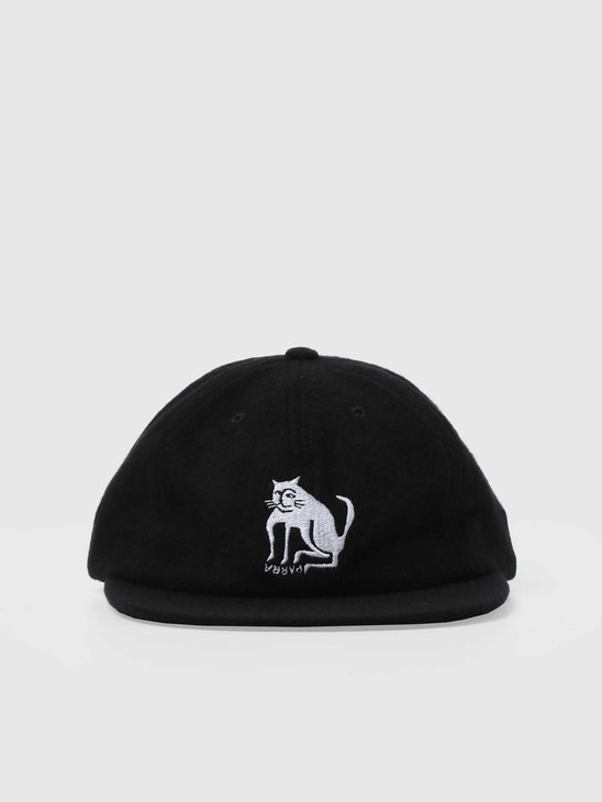 by Parra Cat Wool 6 Panel Hat Black 44395