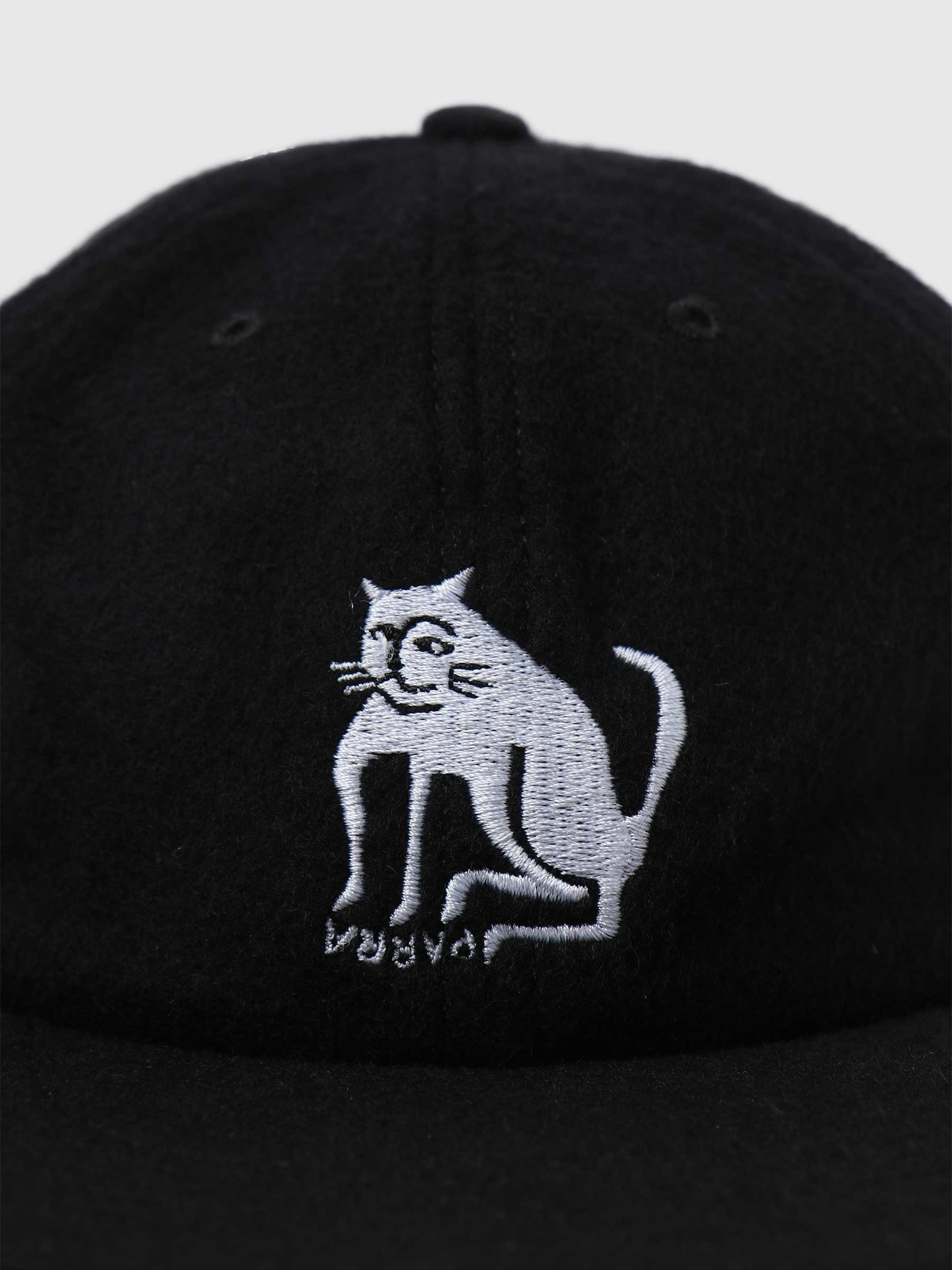 by Parra by Parra Cat Wool 6 Panel Hat Black 44395