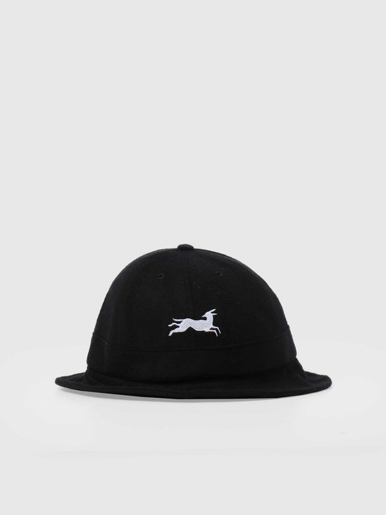 by Parra Jumping Fox Bell Bucket Hat Black 44500