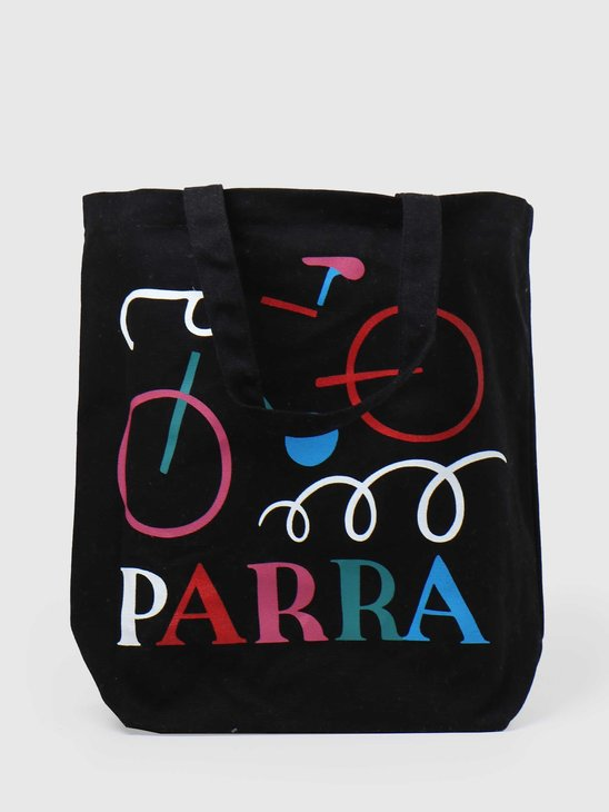 by Parra Broken Bike Tote Bag Black 44490