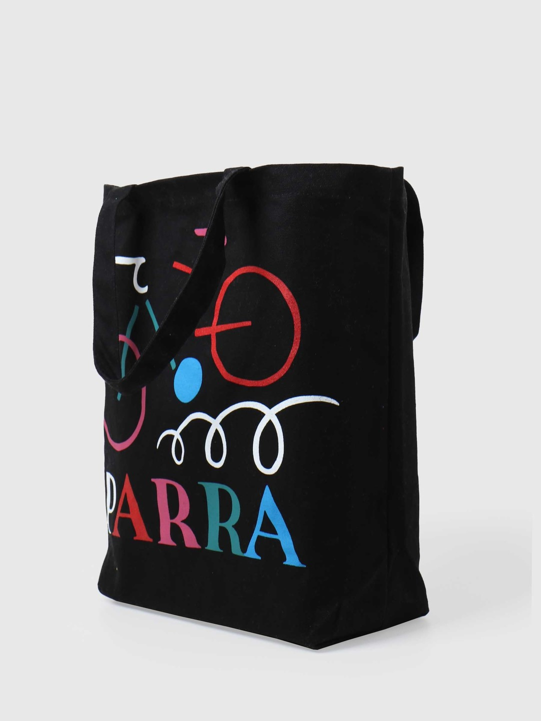 by Parra by Parra Broken Bike Tote Bag Black 44490