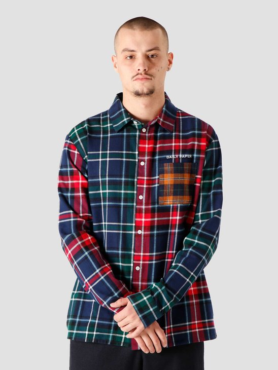 Daily Paper Hocheck Shirt Green Red Check 2021323