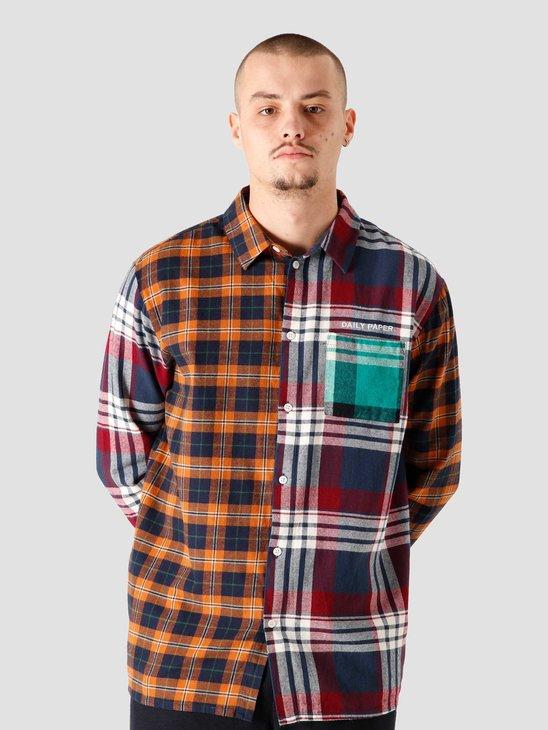 Daily Paper Hocheck Shirt Orange Navy Check 2021324