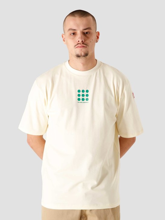 The New Originals Nine Dots Tee Creme Green