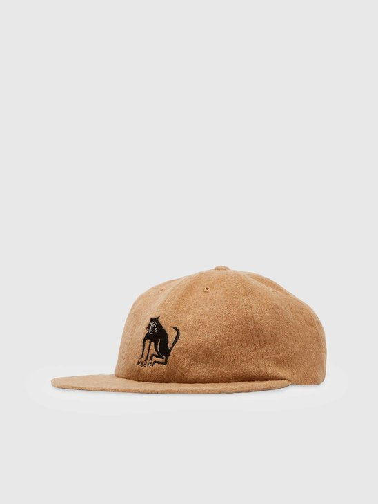 by Parra Cat Wool 6 Panel Hat Camel 44390