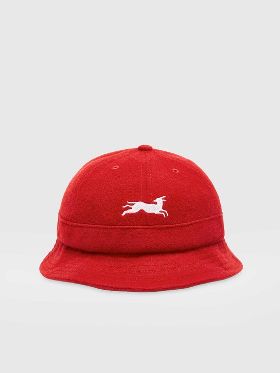 by Parra Jumping Fox Bell Bucket Hat Red 44505