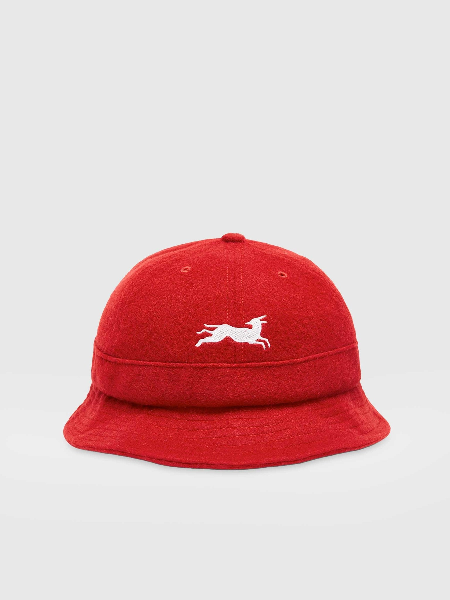 by Parra by Parra Jumping Fox Bell Bucket Hat Red 44505