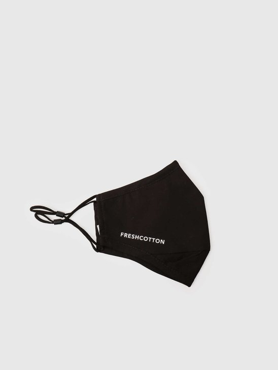 FreshCotton Logo Facemask Black