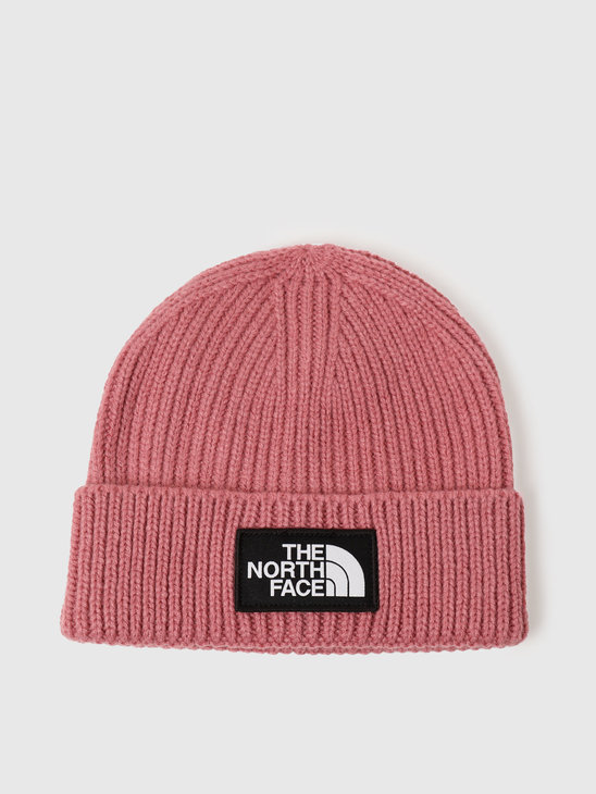 The North Face Logo Box Cuffed Beanie Mesa Rose NF0A3FJXRN2