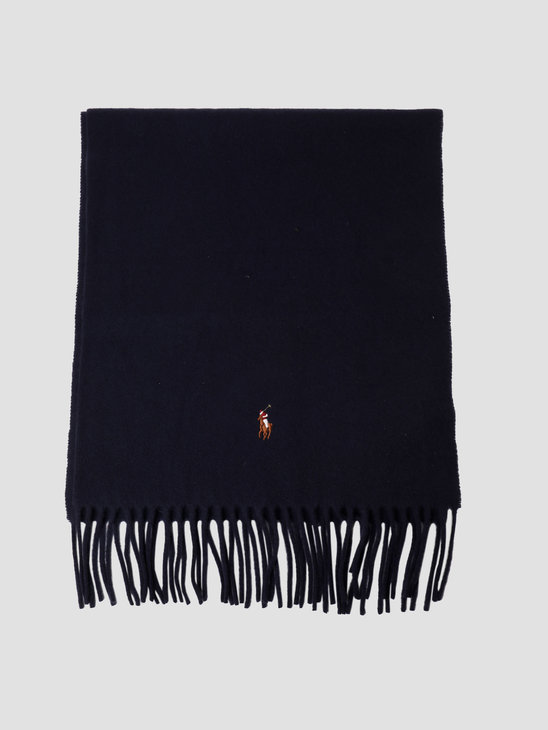 Polo Ralph Lauren Signature Italian Oblong Scarf Cruise Navy 449775968005