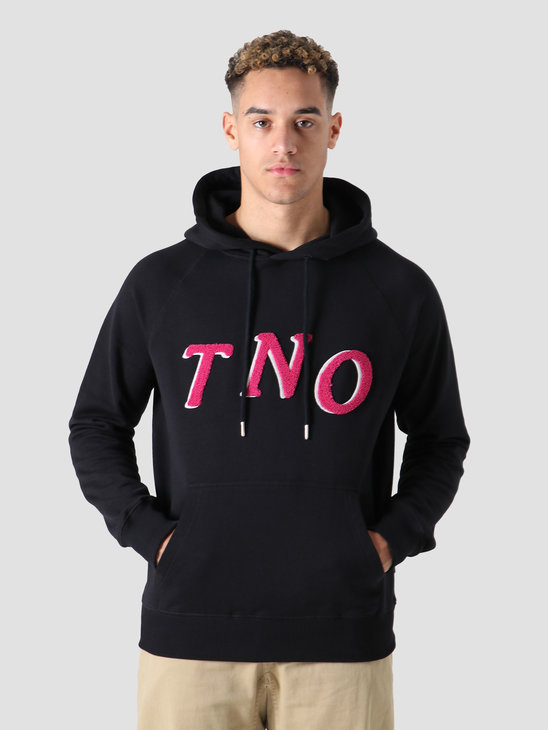 The New Originals Fabric Hoodie Speckled Print Black
