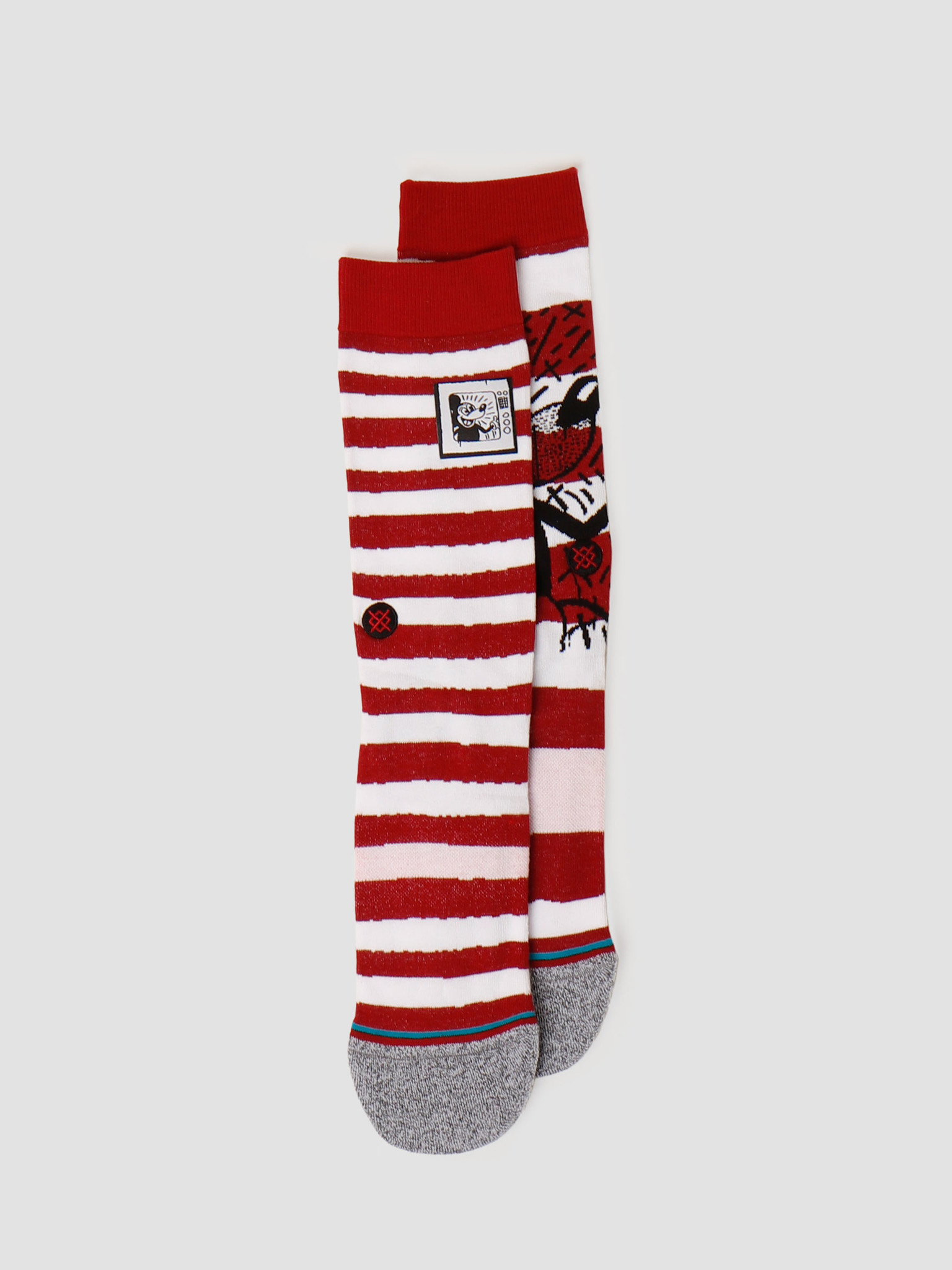Stance Stance Mickey Tv Haring Mix Red A545D20MIC