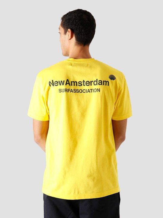 New Amsterdam Surf association Logo Tee Cyber Yellow