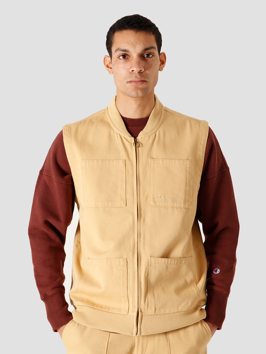 Champion Full Zip Vest Sand 215203