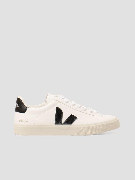 Veja Campo Chromefree Leather White Black CP051537
