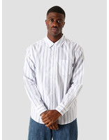 Stussy Stussy Classic Double Button Longsleeve Shirt Stripe 6205202066-922