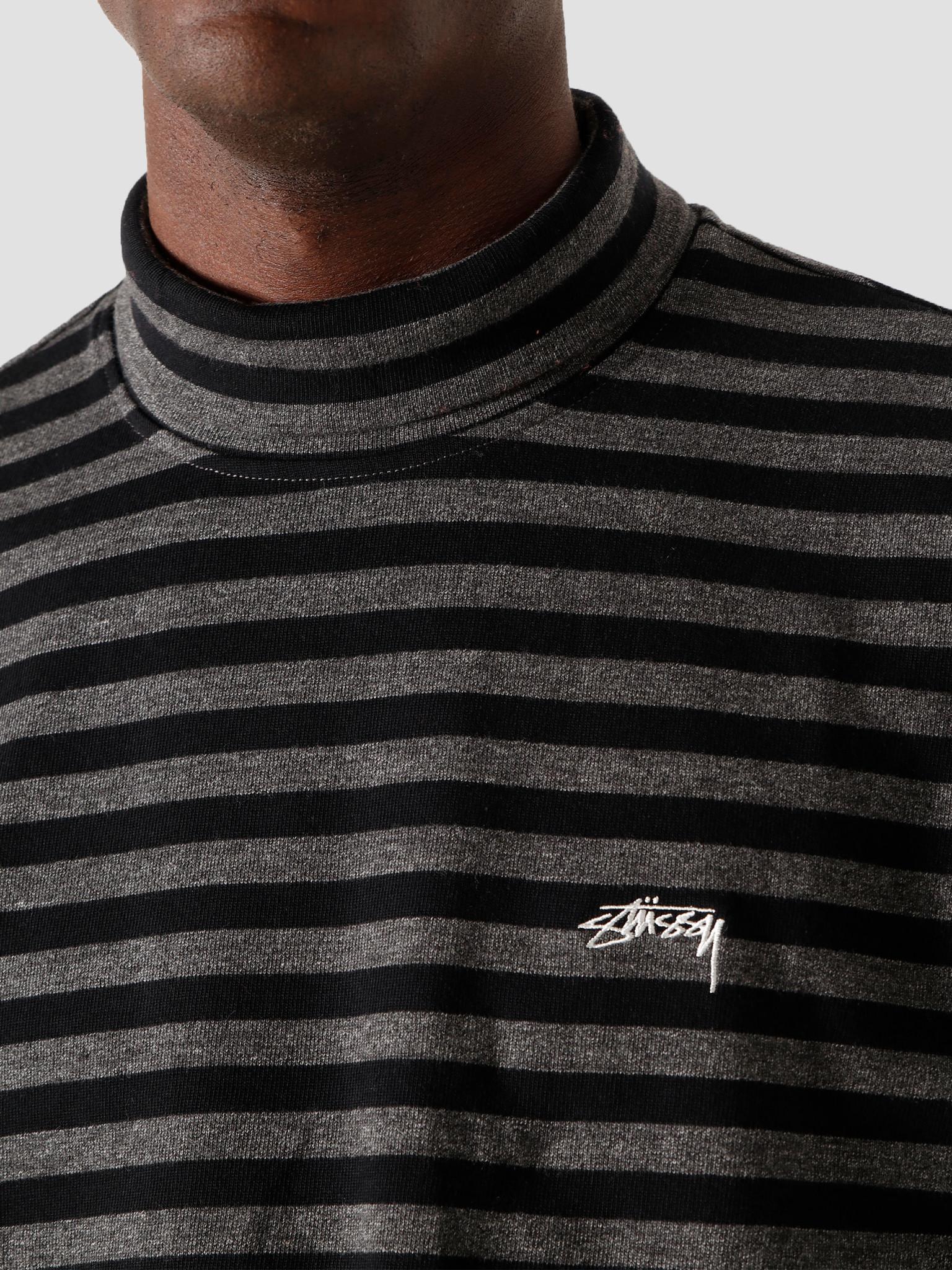 Stussy Stussy Classic Stripe Longsleeve Turtleneck Black 6105100010-0001
