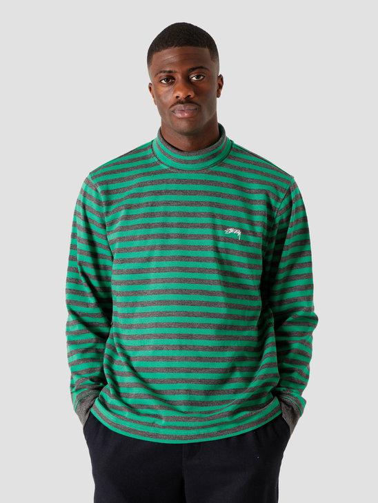Stussy Classic Stripe Longsleeve Turtleneck Green 6105100010-0401