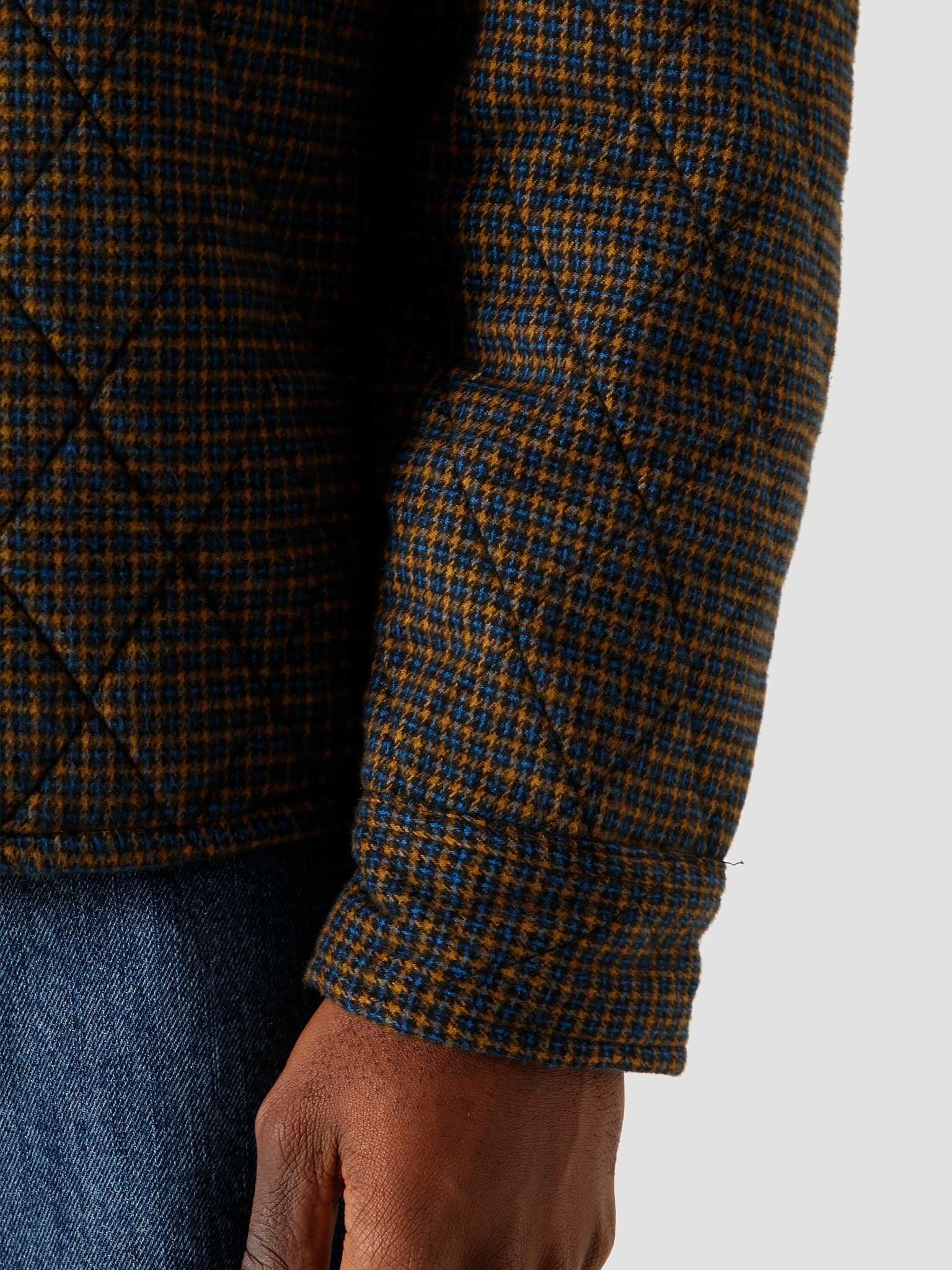 Stussy Stussy Mini Check Quilted Zip Shirt Black 6205202066-0001