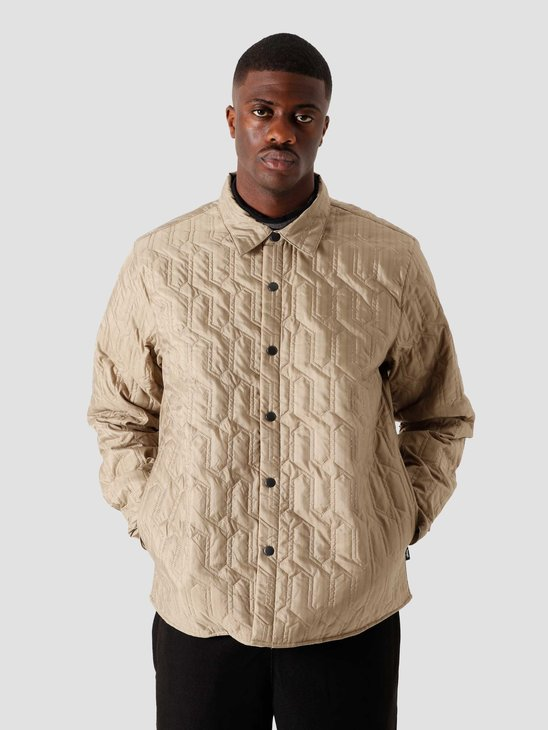 Stussy Quilted Insulated Longsleeve Shirt Beige 6205302070-1032