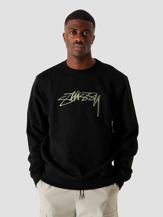 Stussy Smooth Stock App. Crew Black 6110202041-0001
