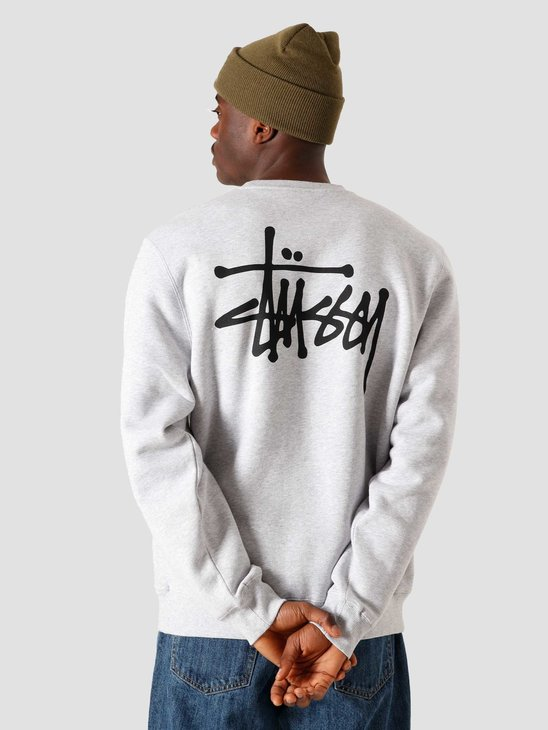 Stussy Basic Crew Ash Heather 6110202041-0062