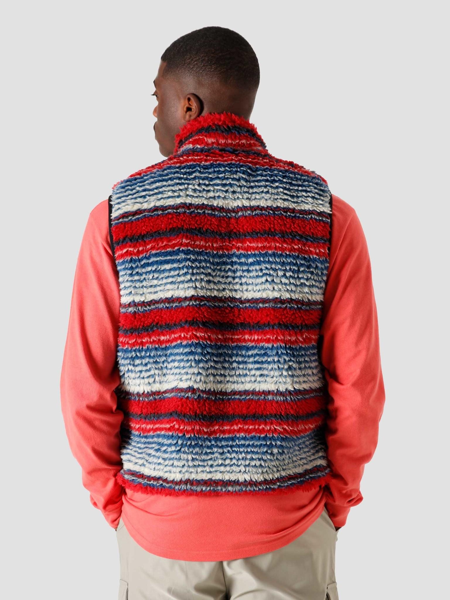Stussy Stussy Striped Sherpa Vest Multi 6110304041-1408