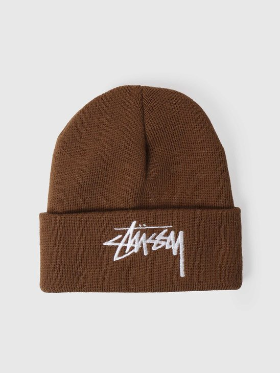 Stussy Big Stock Cuff Beanie Brown 6505006090-1001