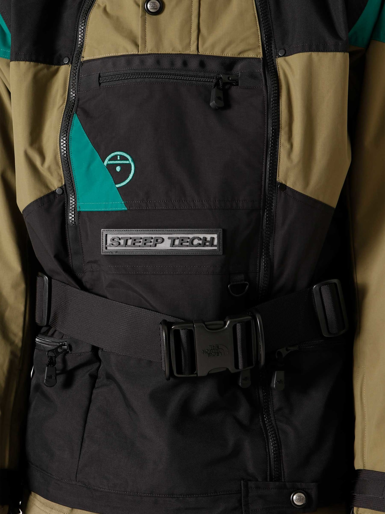 The North Face The North Face Steep Tech Jacket Burnt Olive Green Ever Green Black NF0A4QYSSH2