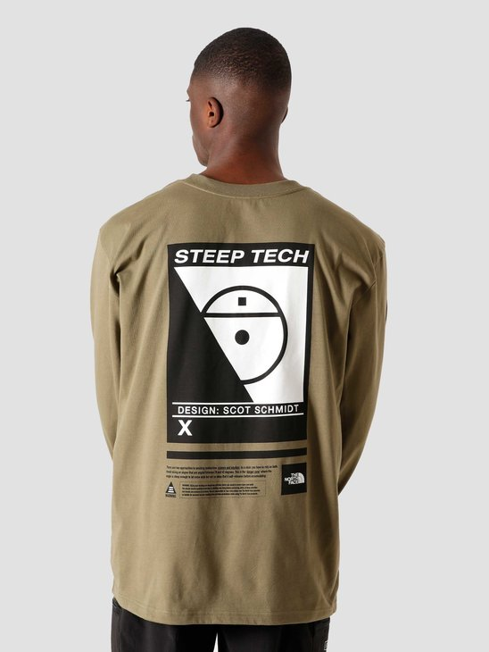 The North Face Steep Tech Longsleeve Burnt Olive Green NF0A3YCR7D6