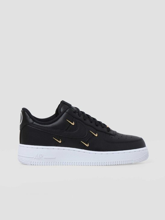 Nike W Air Force 1 07 Lx Black Black Metallic Gold Hyper Royal CT1990-001