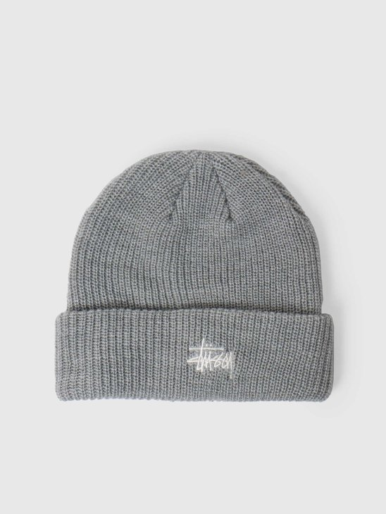Stussy Basic Cuff Beanie Grey Heather 6505006090-0009