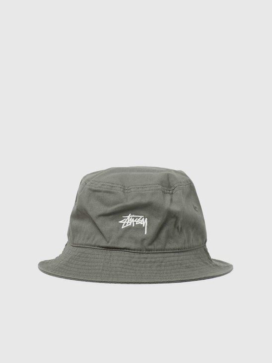 Stussy Stock Bucket Hat Olive 6505002060-0403