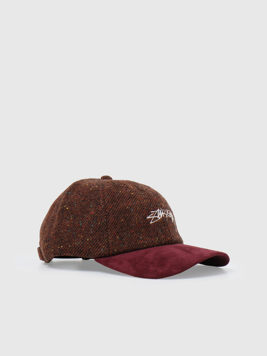 Stussy Speckled Wool Low Pro Cap Rust 6505008090-0627